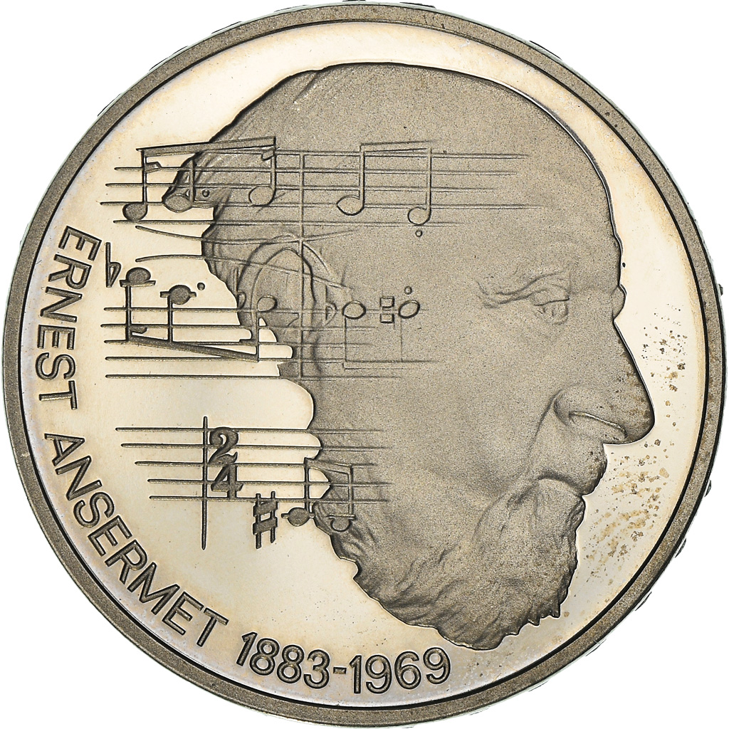 Moneda, Suiza, 100th Anniversary - Birth of Ernest Ansermet, 5 Francs, 1983, BE